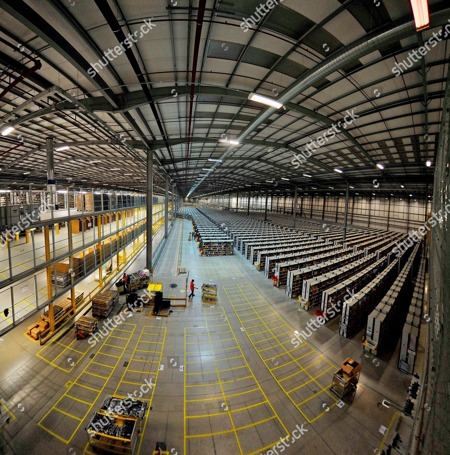 Workers Amazon Fulfilment Centre Rugeley Staffs One