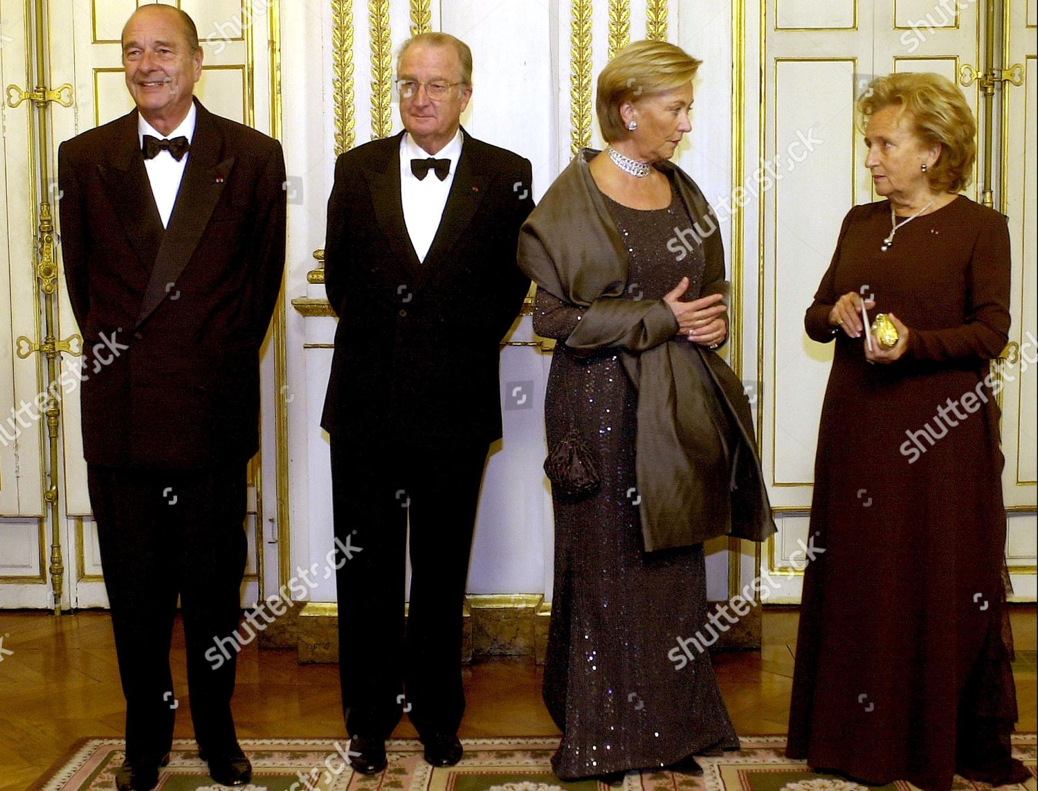 KING ALBERT AND QUEEN PAOLA STATE VISIT TO PARIS, FRANCE - 27 OCT 2003: стоковое фото