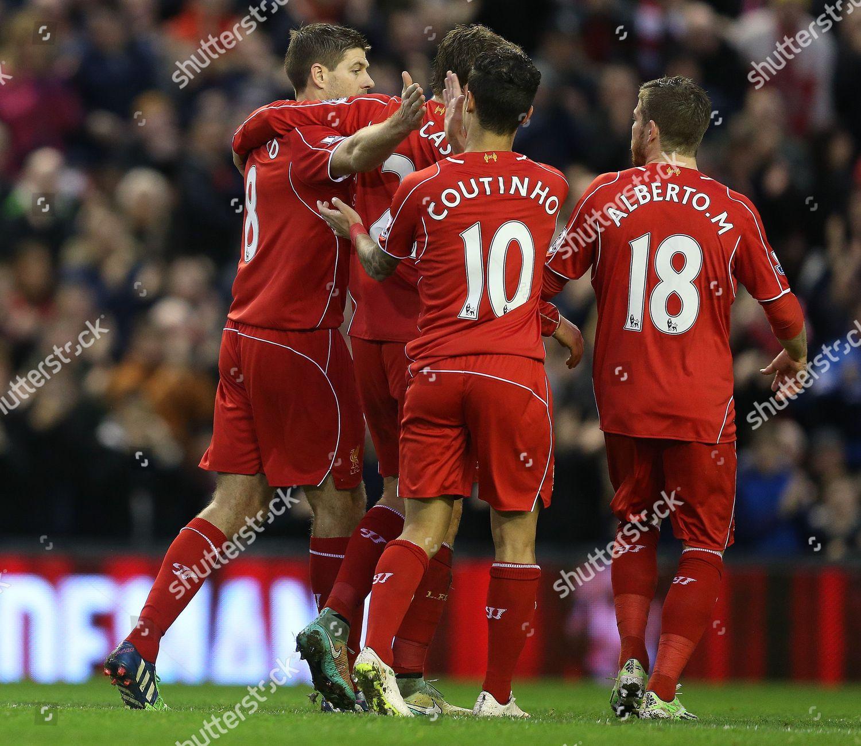 Steven Gerrard Liverpool Celebrates Scoring His Sides Editorial Stock Photo Stock Image Shutterstock