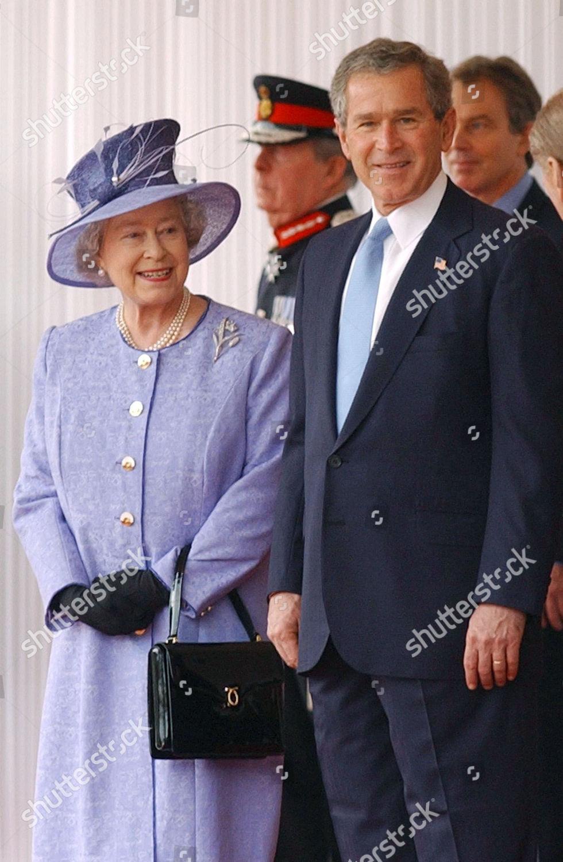 Editorial Stock Photo Of Queen Elizabeth Ii George W Bush Tony