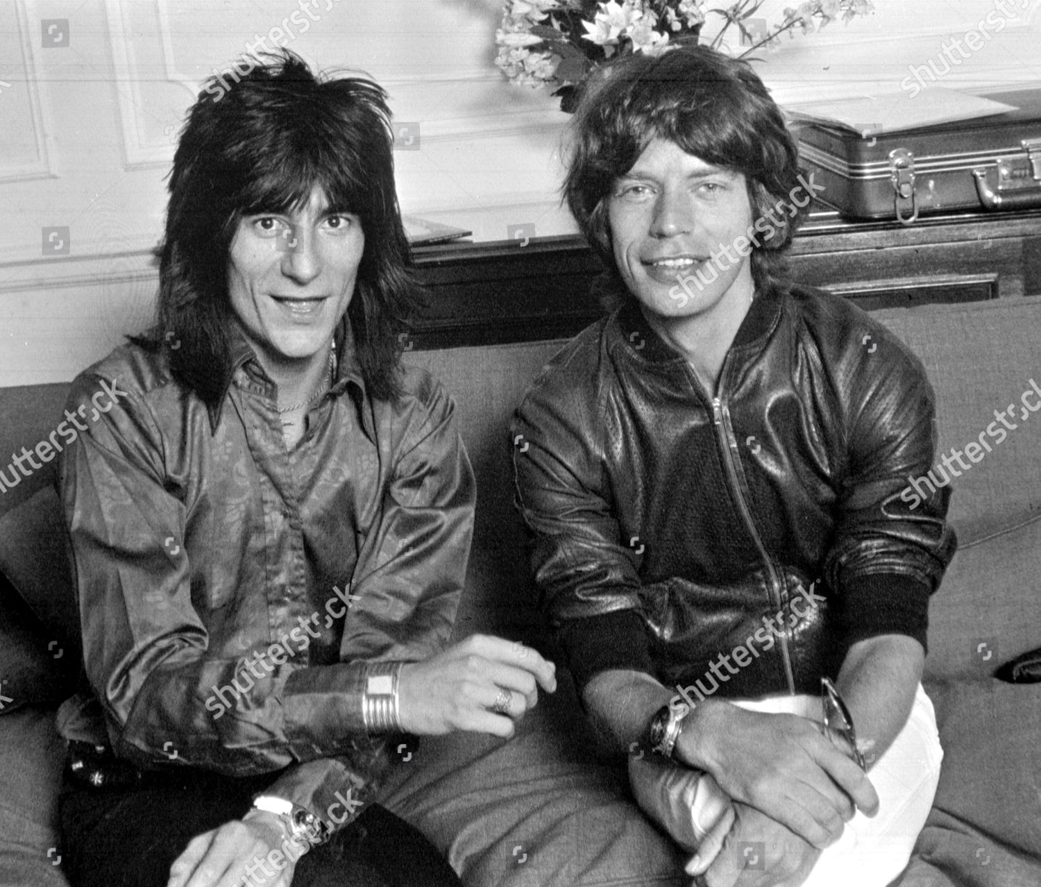 Ronnie Wood Mick Jagger Savoy Hotel London Editorial Stock