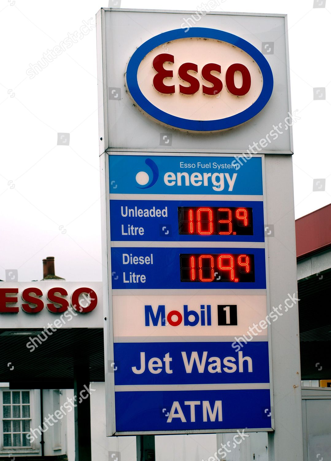 Esso petrol service station Mortlake south west Editorial