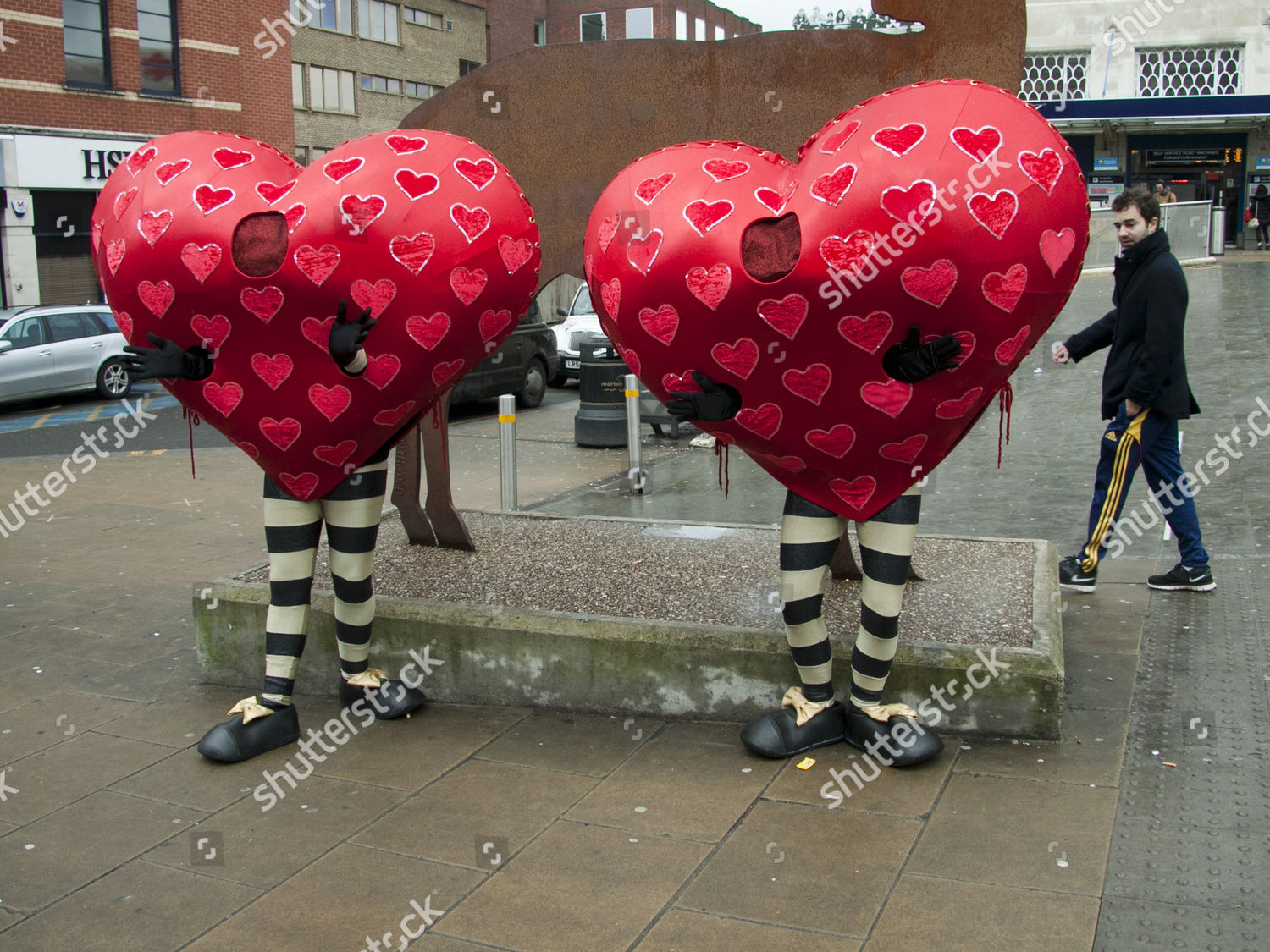 Roving Hearts On Valentines Day Wimbledon Editorial Stock Photo