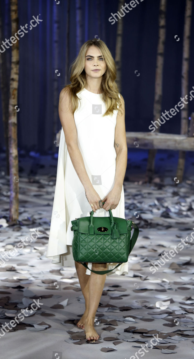 0a63d2229f11 Stock photo of Cara Delevigne Model For Mulberry Autumn winter 2014 15  Collection Shown
