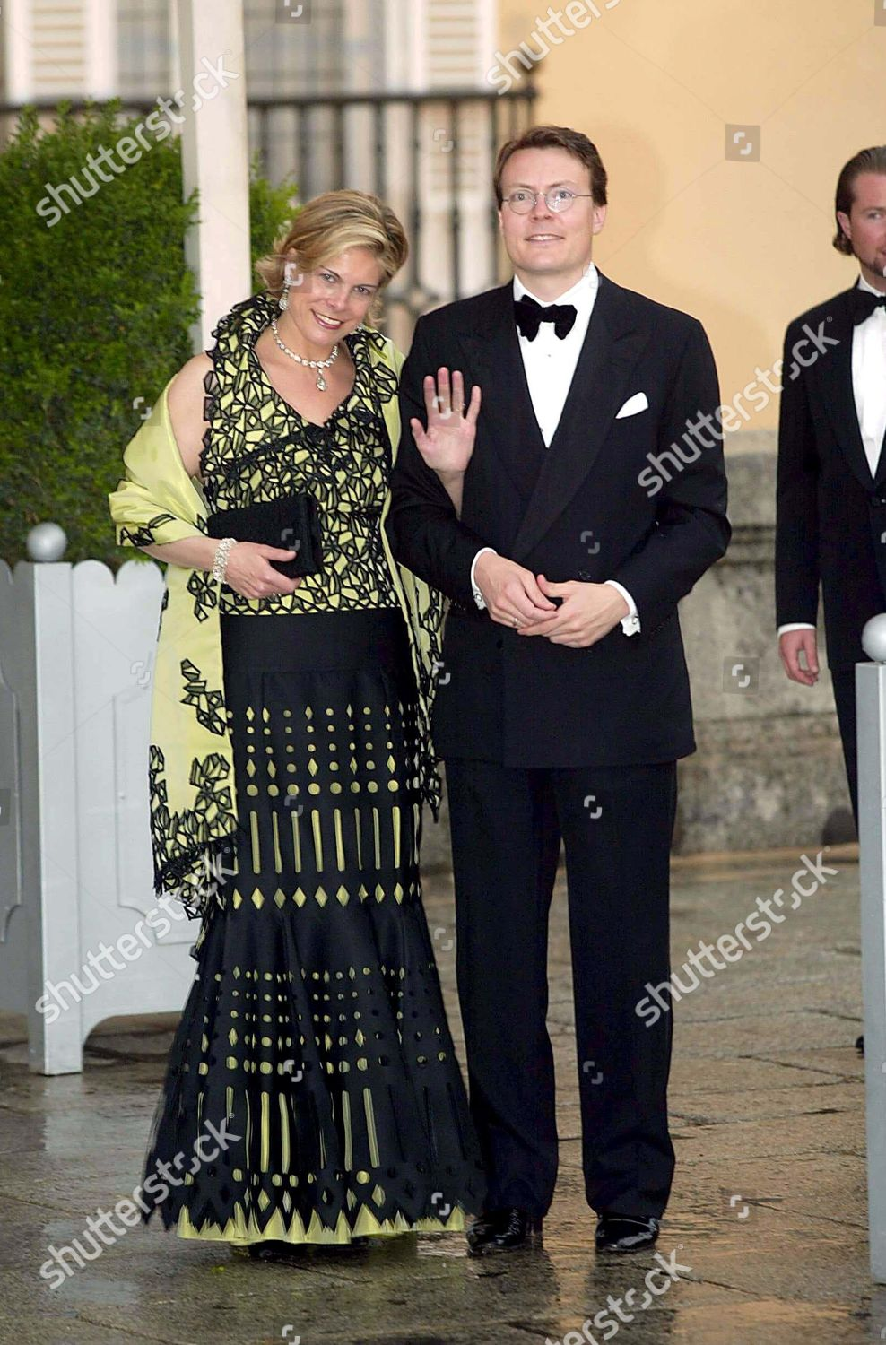 GALA DINNER TO CELEBRATE THE WEDDING OF PRINCE FELIPE AND LETIZIA ORTIZ ROCASOLANO, PARDO PALACE, MADRID, SPAIN - 21 MAY 2004: стоковое фото