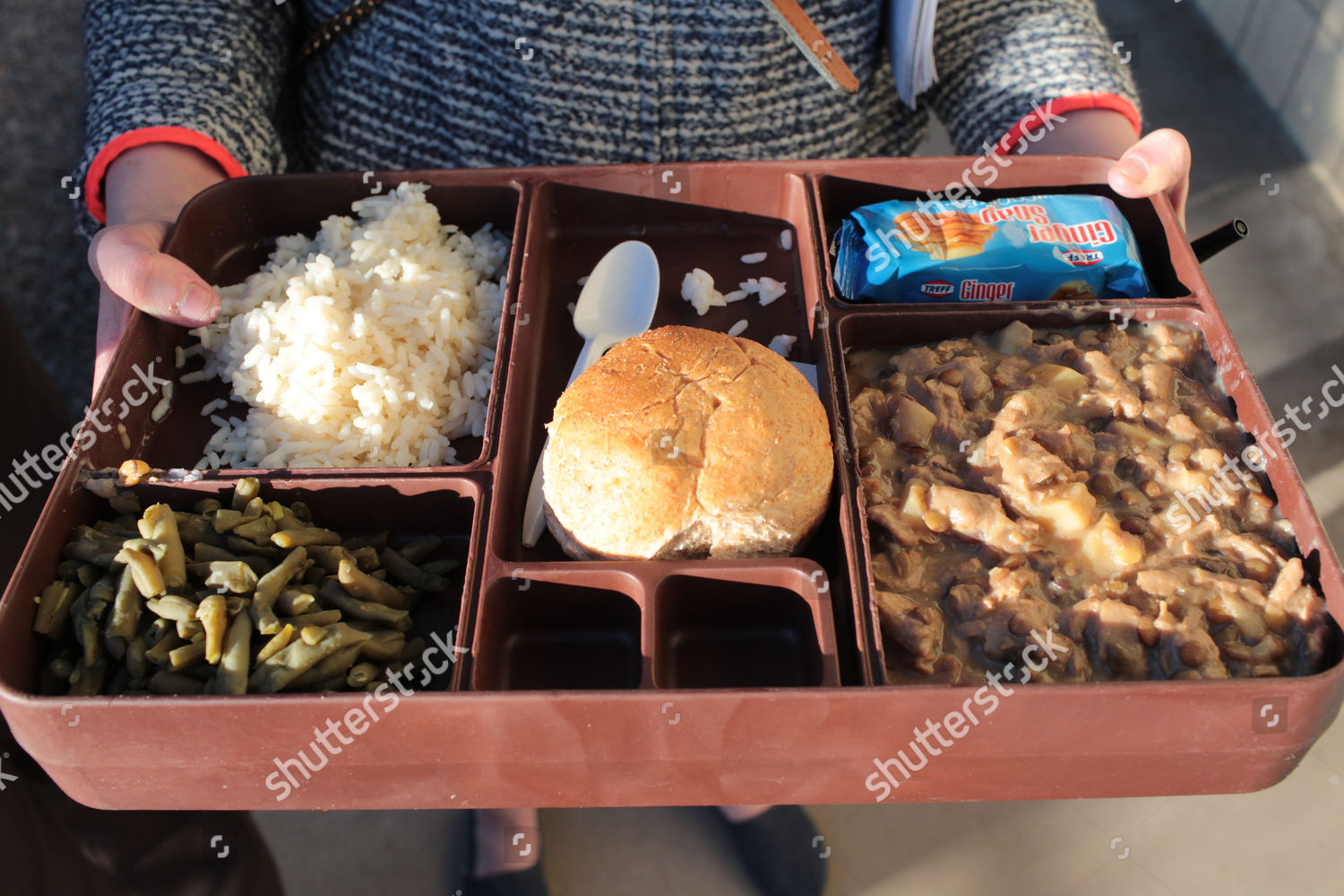 Prison slop dinner Editorial Stock Photo - Stock Image