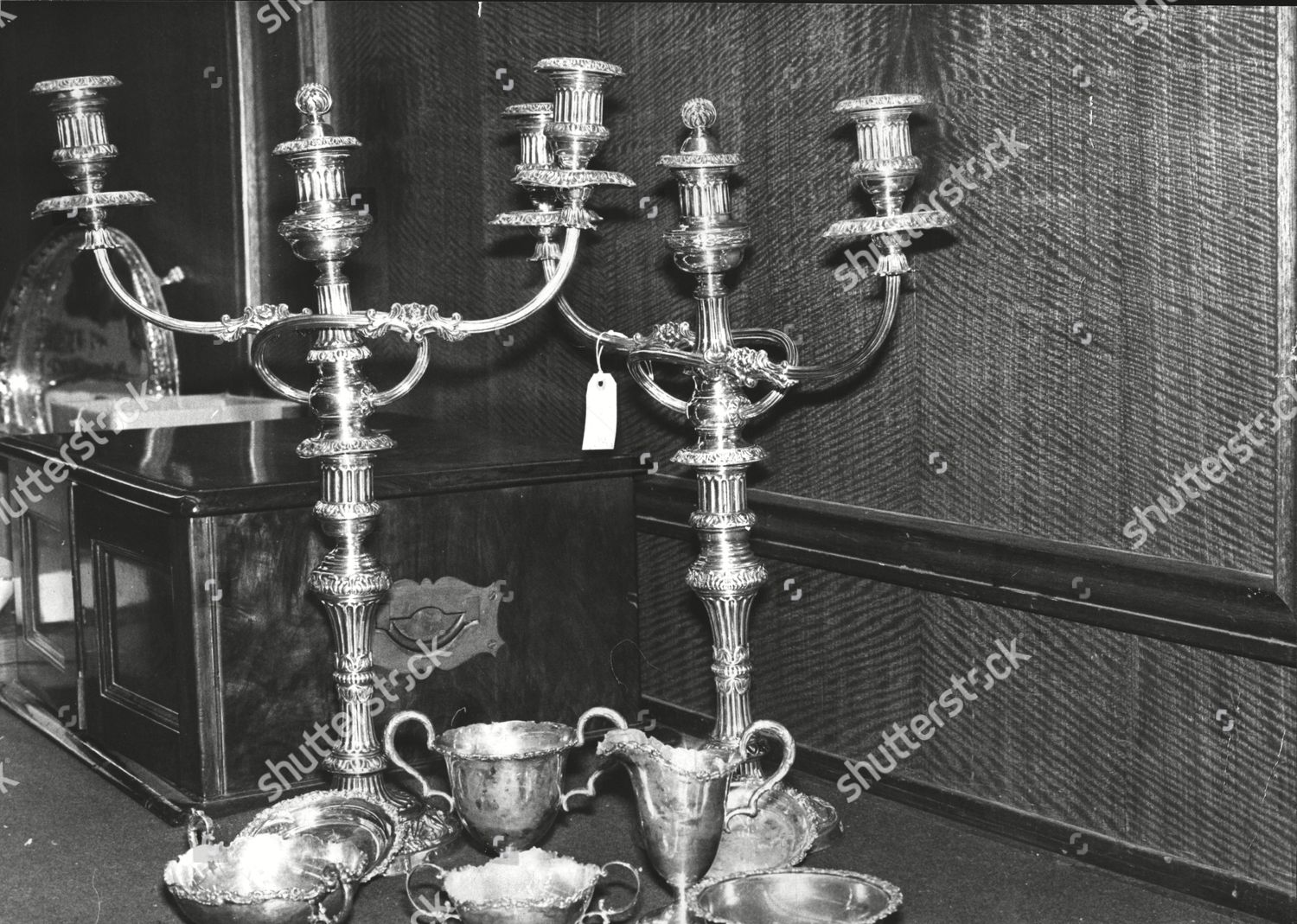 Silver Candelabras On Sale Christies Auction Rooms Editorial Stock Photo Stock Image Shutterstock