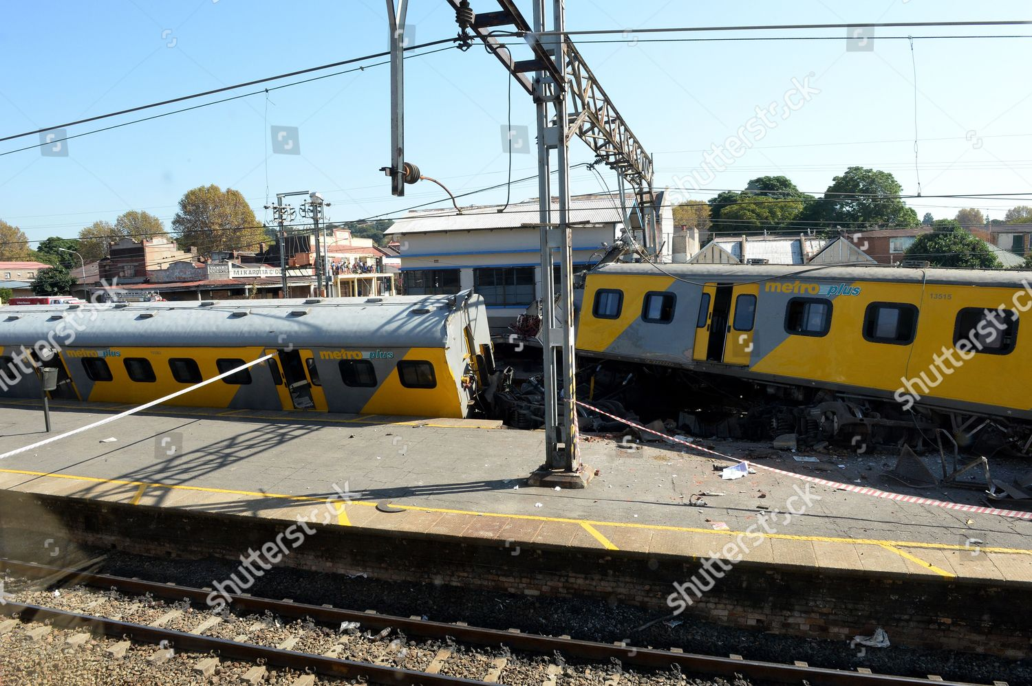 aftermath train crash Editorial Stock Photo - Stock Image