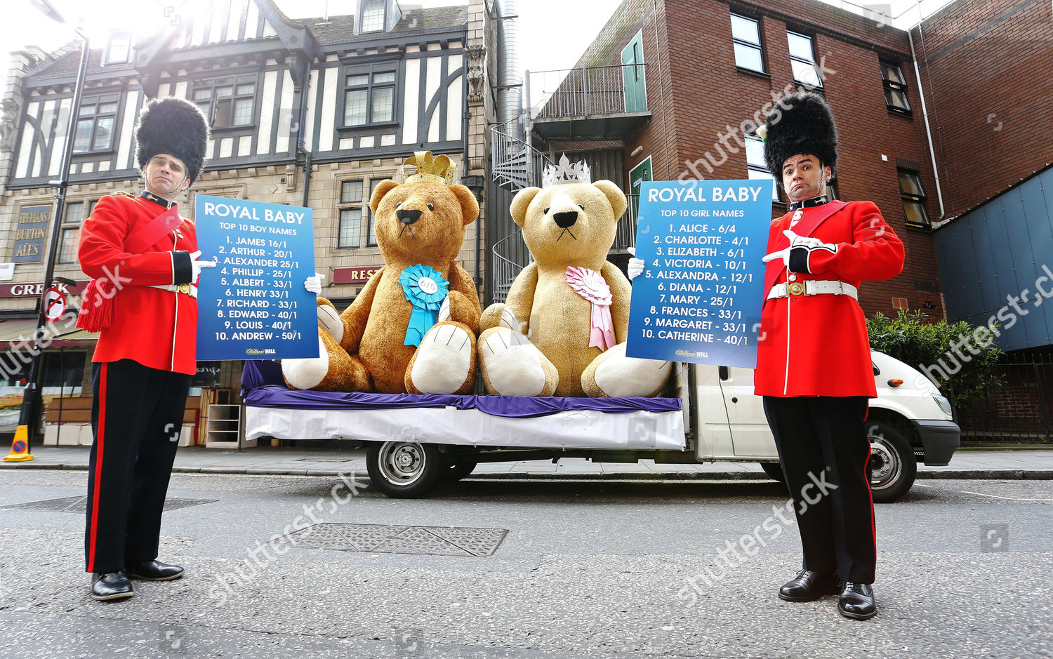 Two giant 3metre high teddy bears which Editorial Stock