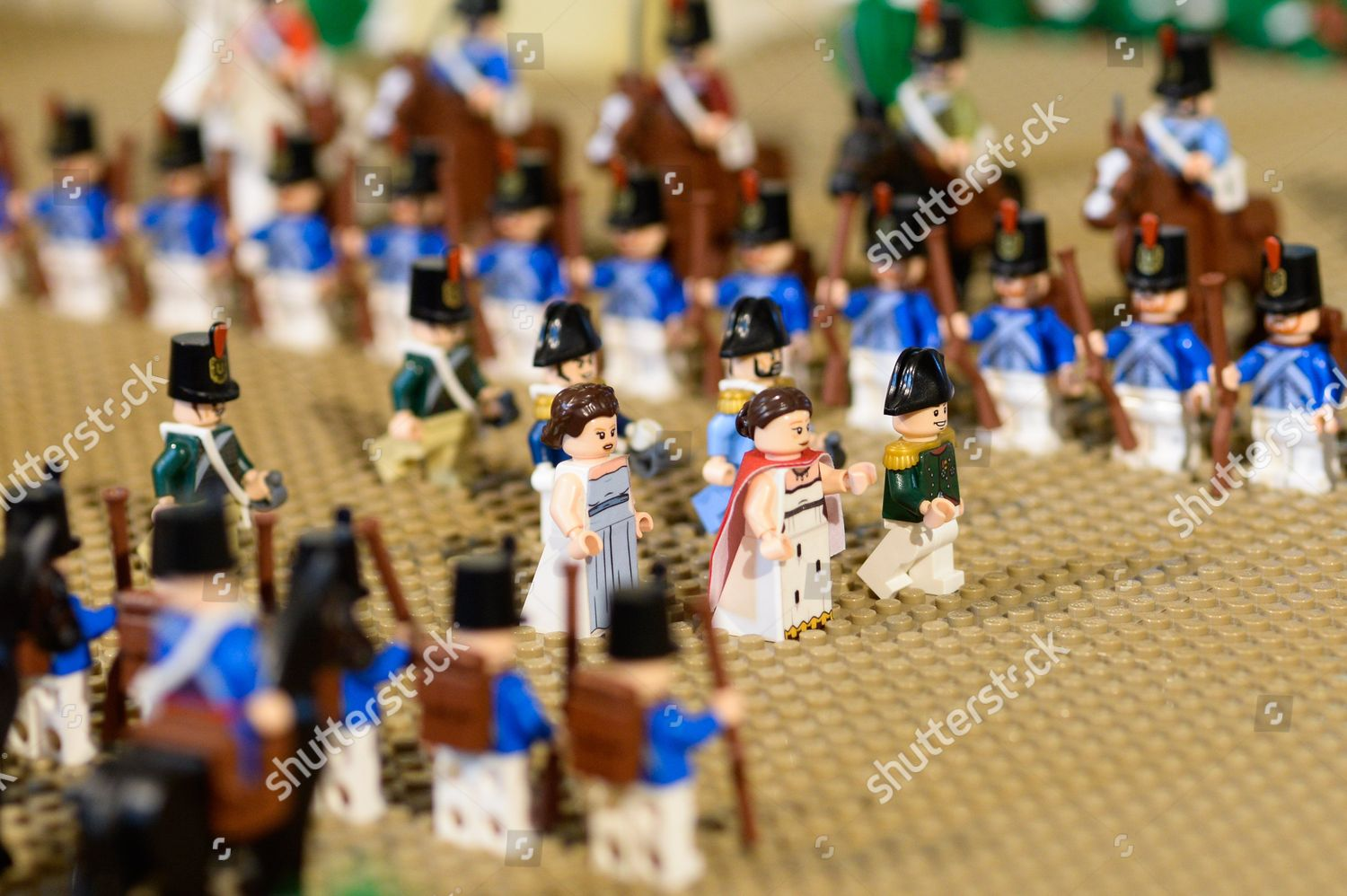 Lego Napoleon soldiers Editorial Stock Photo - Stock Image