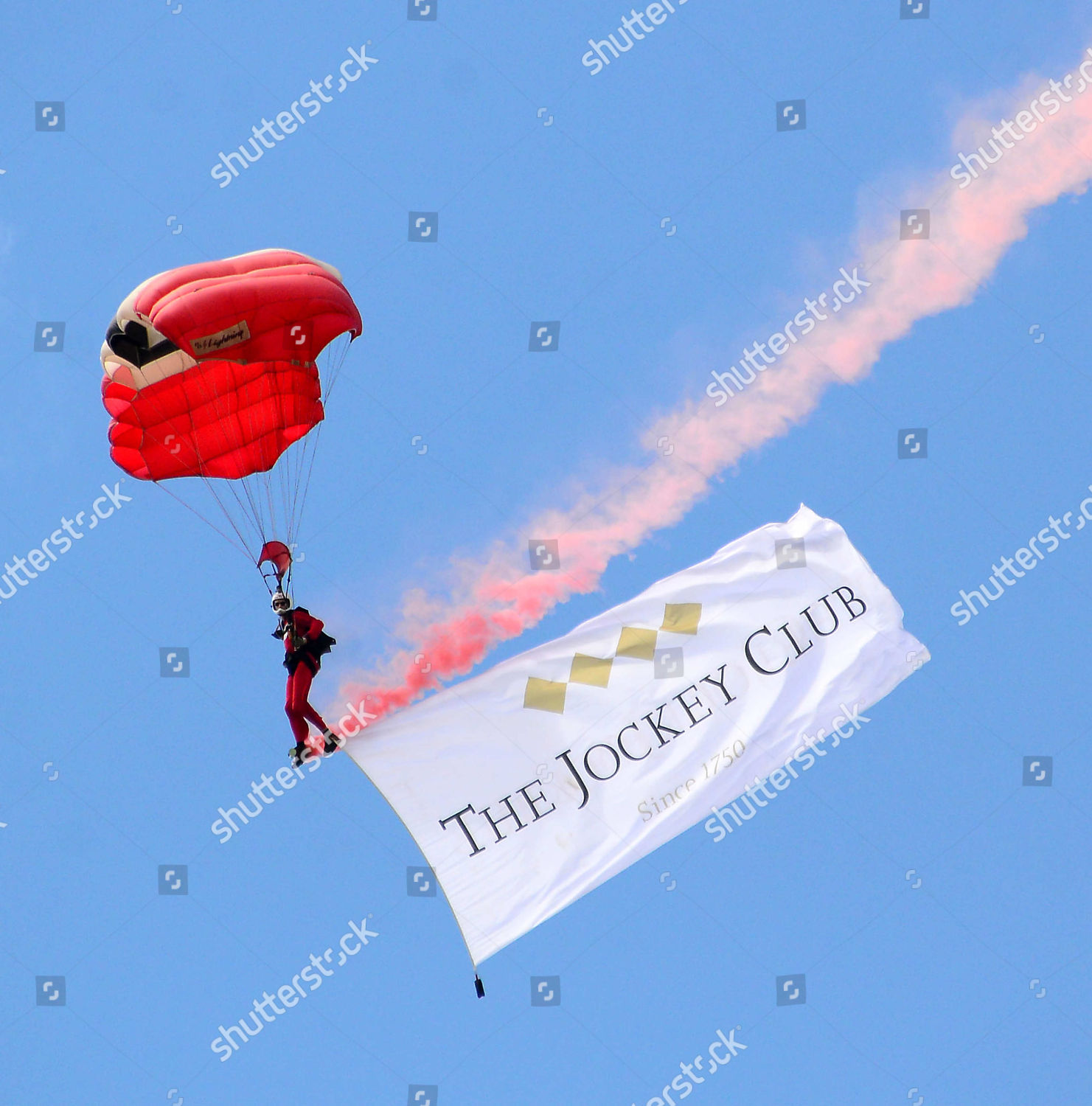 Skydivers Derby opening ceremony Editorial Stock Photo