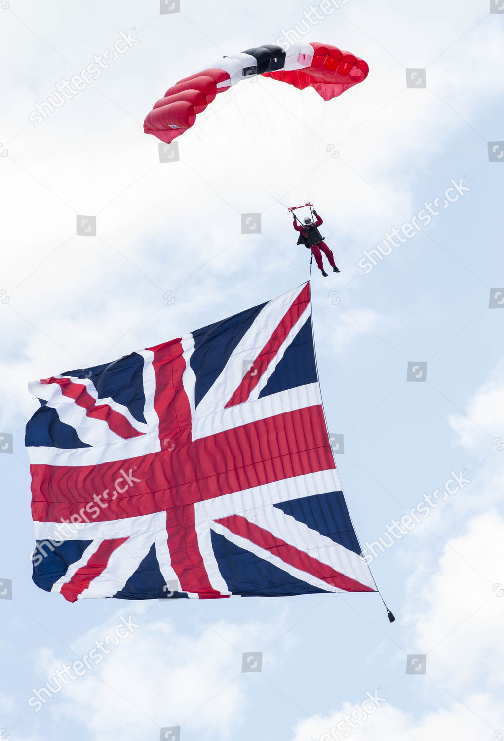 Red Devils parachute Derby Editorial Stock Photo - Stock