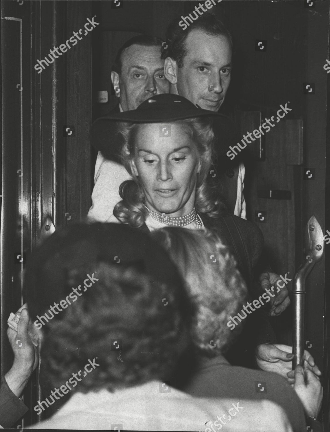 Stock photo of Violet Tester British-born Ballerina Employed By The Communist Rumanian State Opera Company Arriving At Victoria. (for Full Caption See Version) Box 0580 110615 00163a.jpg.