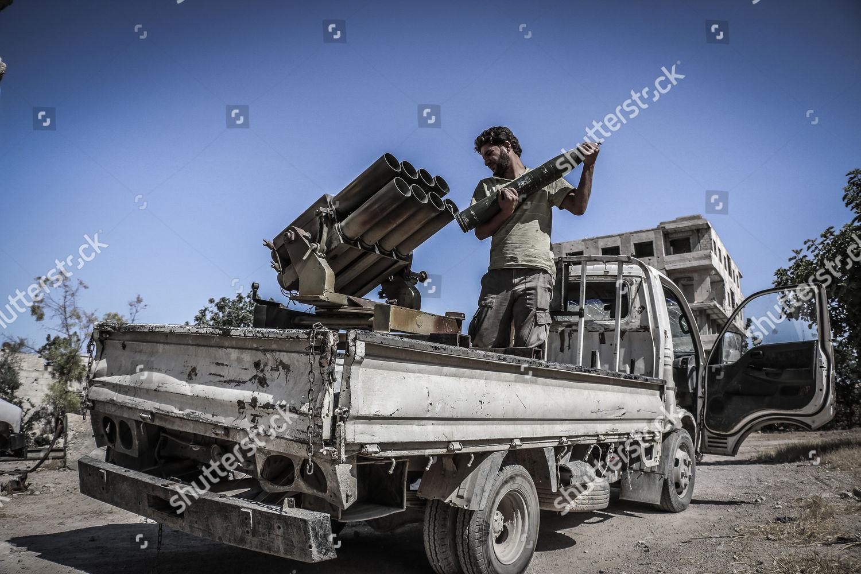 fighter Katyusha rocket Editorial Stock Photo - Stock Image