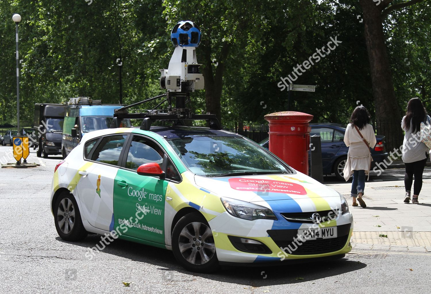 Google Earth Streetview Camera Car Driving Through Editorial Stock