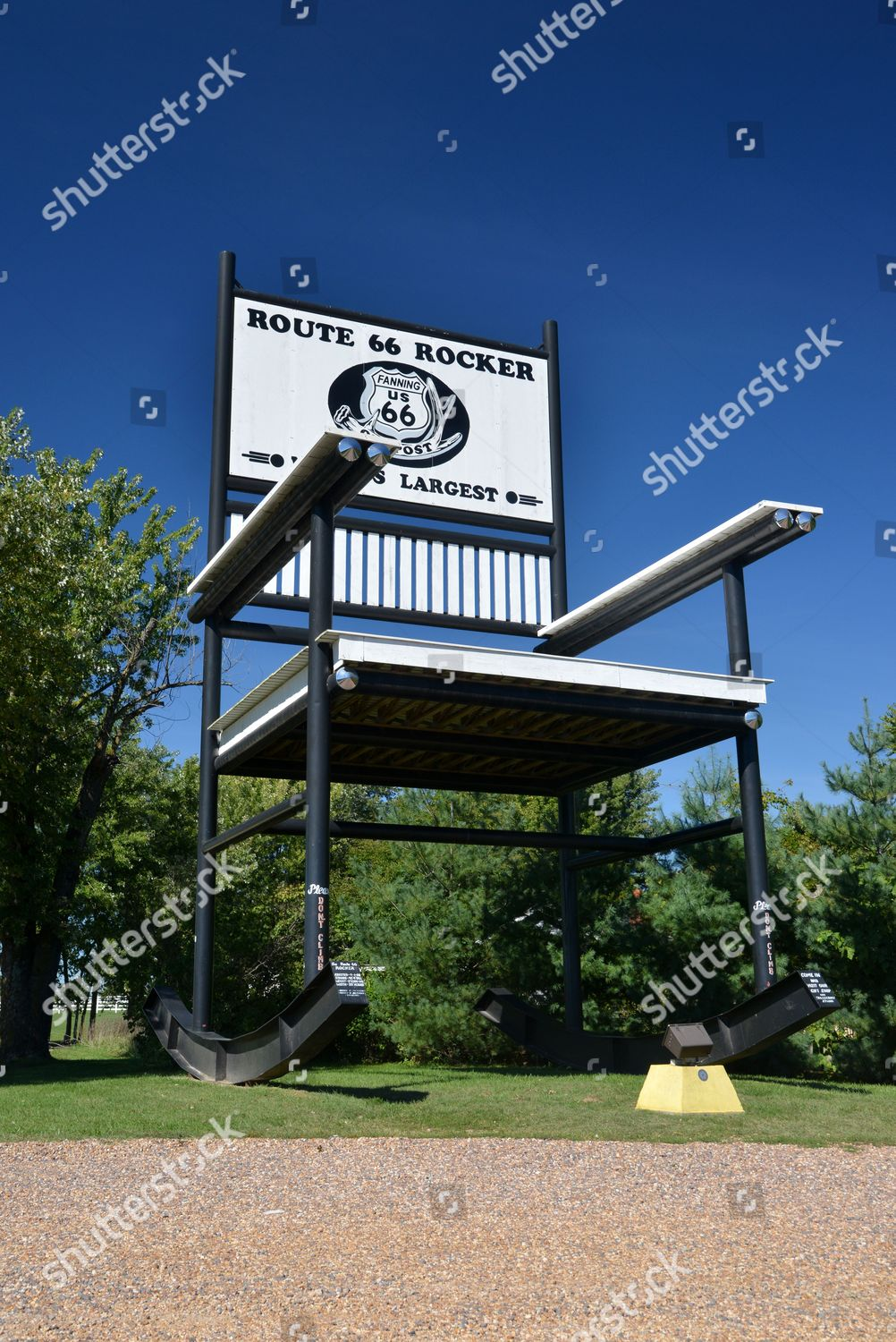 Peachy Worlds Largest Rocking Chair On Route 66 Editorial Stock Alphanode Cool Chair Designs And Ideas Alphanodeonline