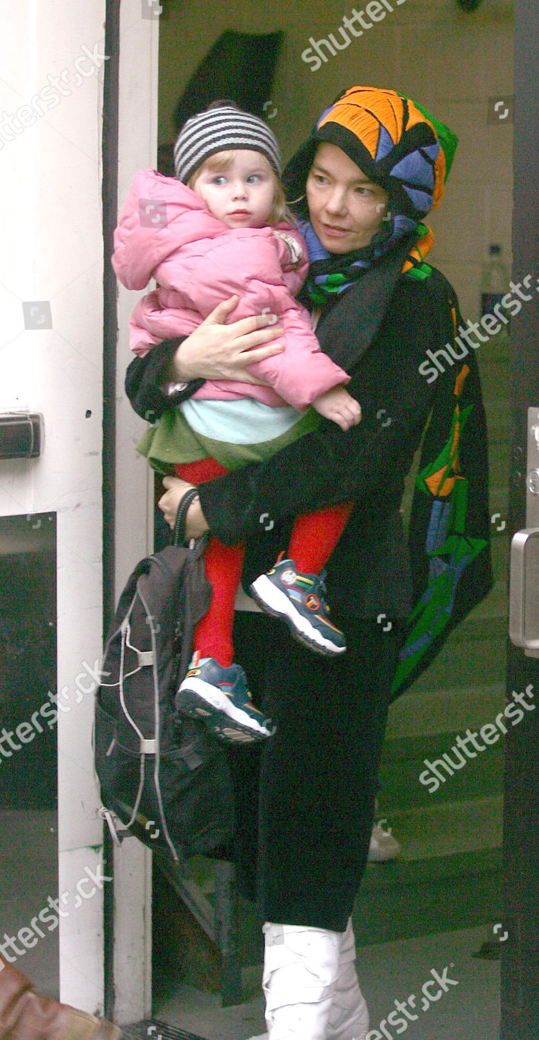 Bjork her daughter Isadora Barney Apple Store Editorial Stock Photo