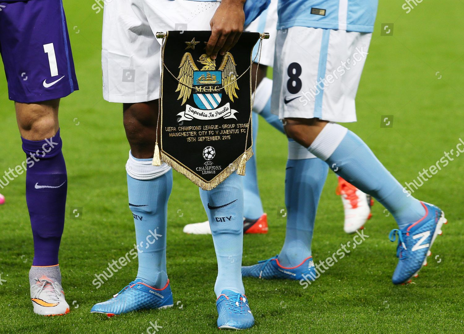 General View Match Pennant During Uefa Champions Editorial Stock Photo Stock Image Shutterstock