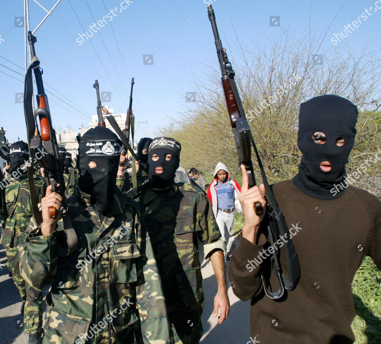 Masked Palestinian militants Al Aqsa Martyrs Brigades