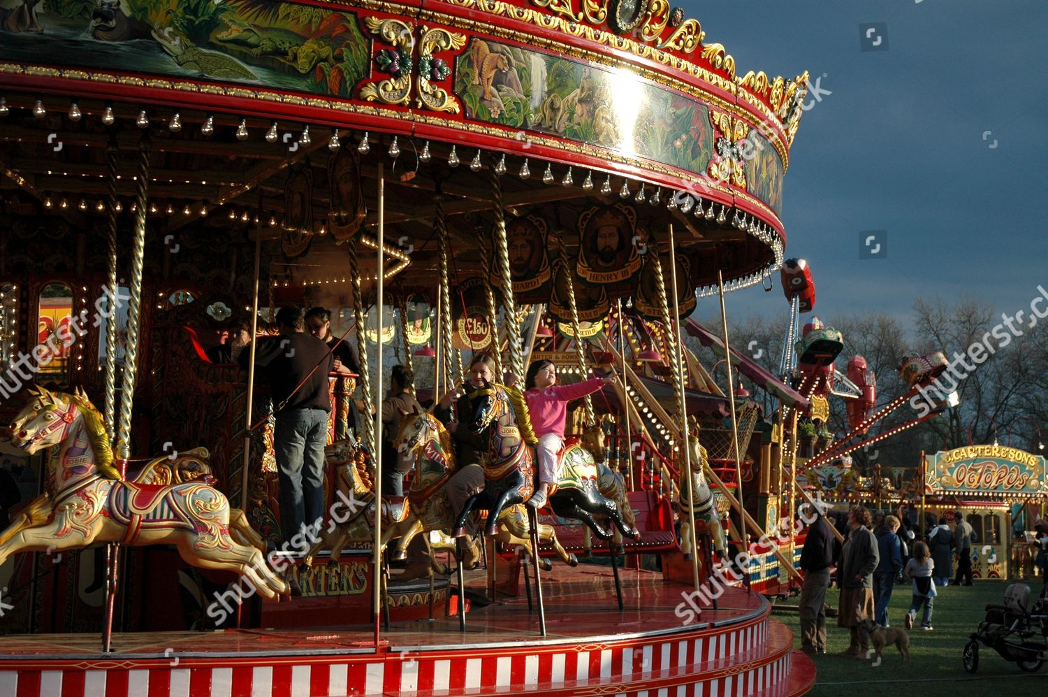 Carters Steam Fair Steam Powered Carousel Editorial Stock Photo