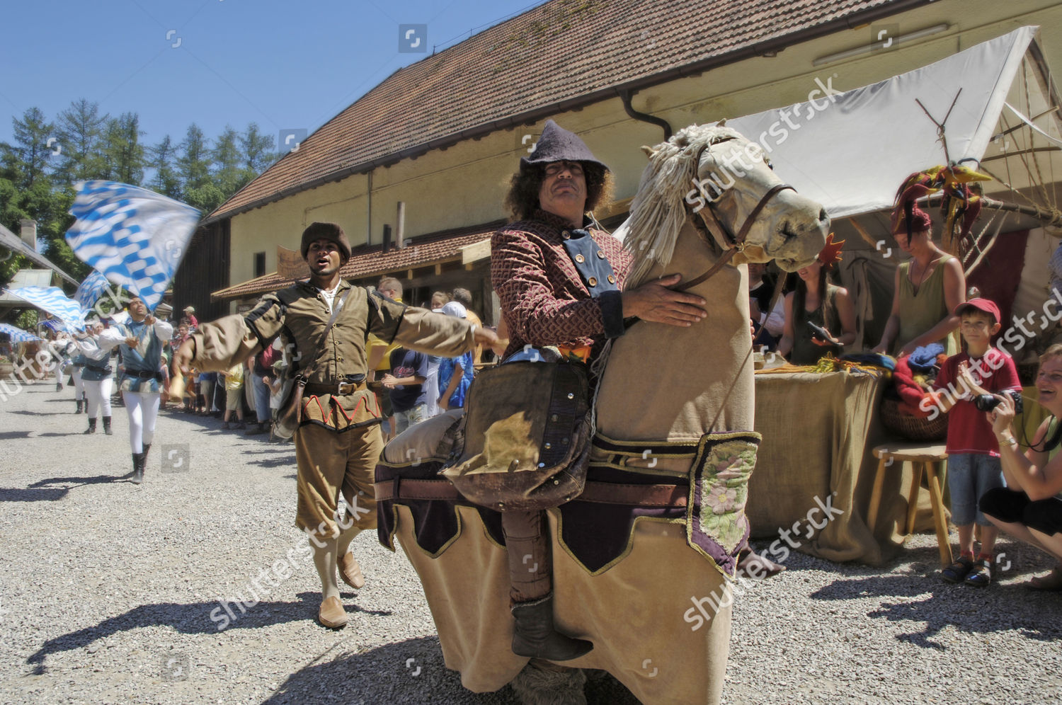 Man Mediaeval Medieval Costume Riding On Horse Editorial Stock Photo Stock Image Shutterstock