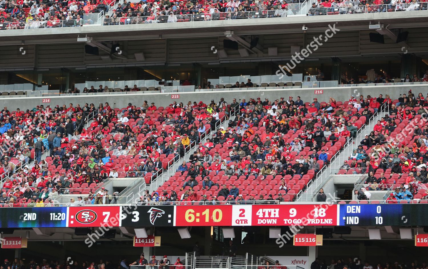 Empty Seats Levis Stadium During Nfl Game Editorial Stock Photo Stock Image Shutterstock