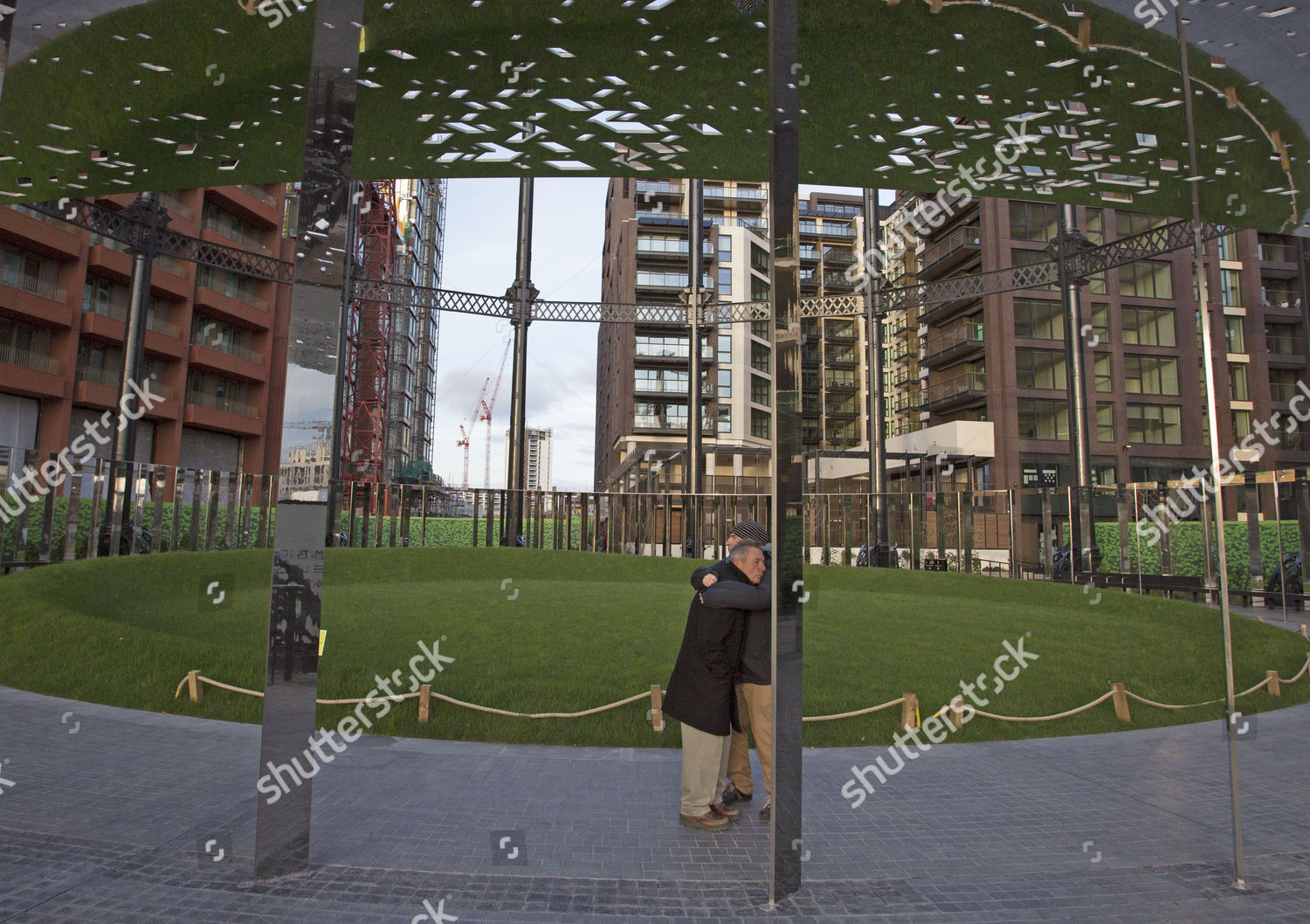 Victorian gas holder encloses new park Kings Editorial Stock