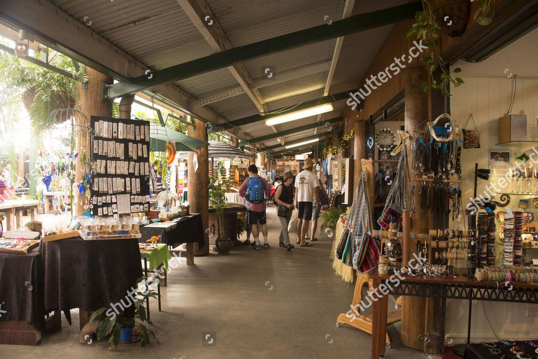 Tourists Browsing Around Souvenir Arts Crafts Shops Editorial Stock Photo Stock Image Shutterstock