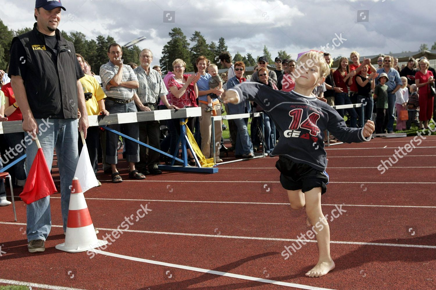 Juuso Tayris throws 1066 metres during junior Editorial