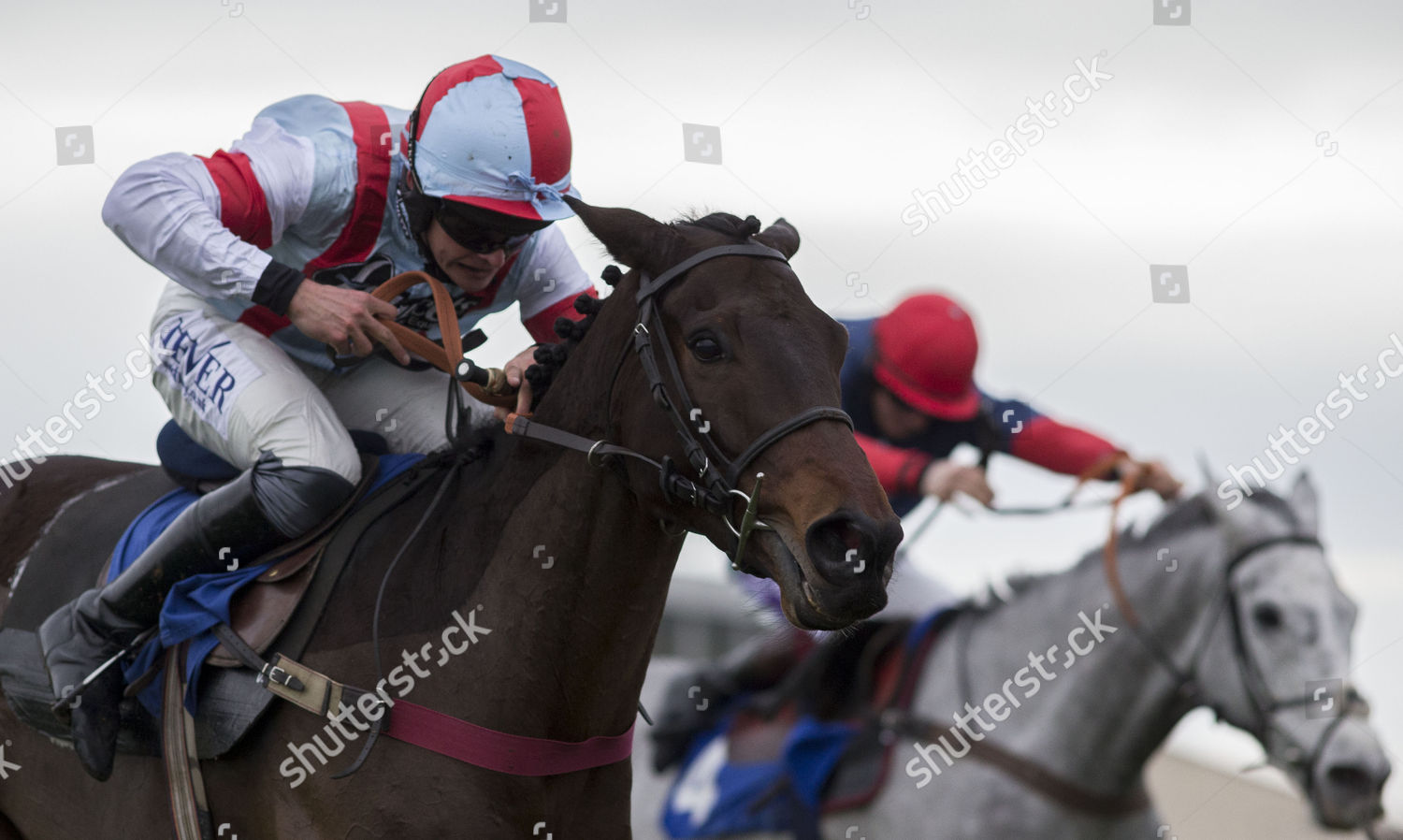 Christmas Horse Racing.Kap Jazz Ridden By Liam Treadwell Gets Editorial Stock Photo