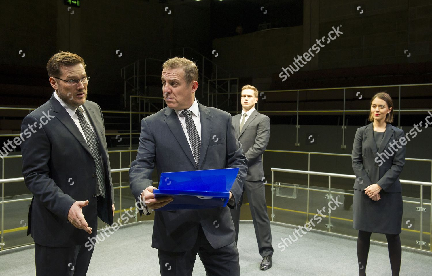 Stock photo of 'Bull (Maria)' play by Mike Bartlett performed at the Young Vic Theatre, London, UK, 15 Dec 2015