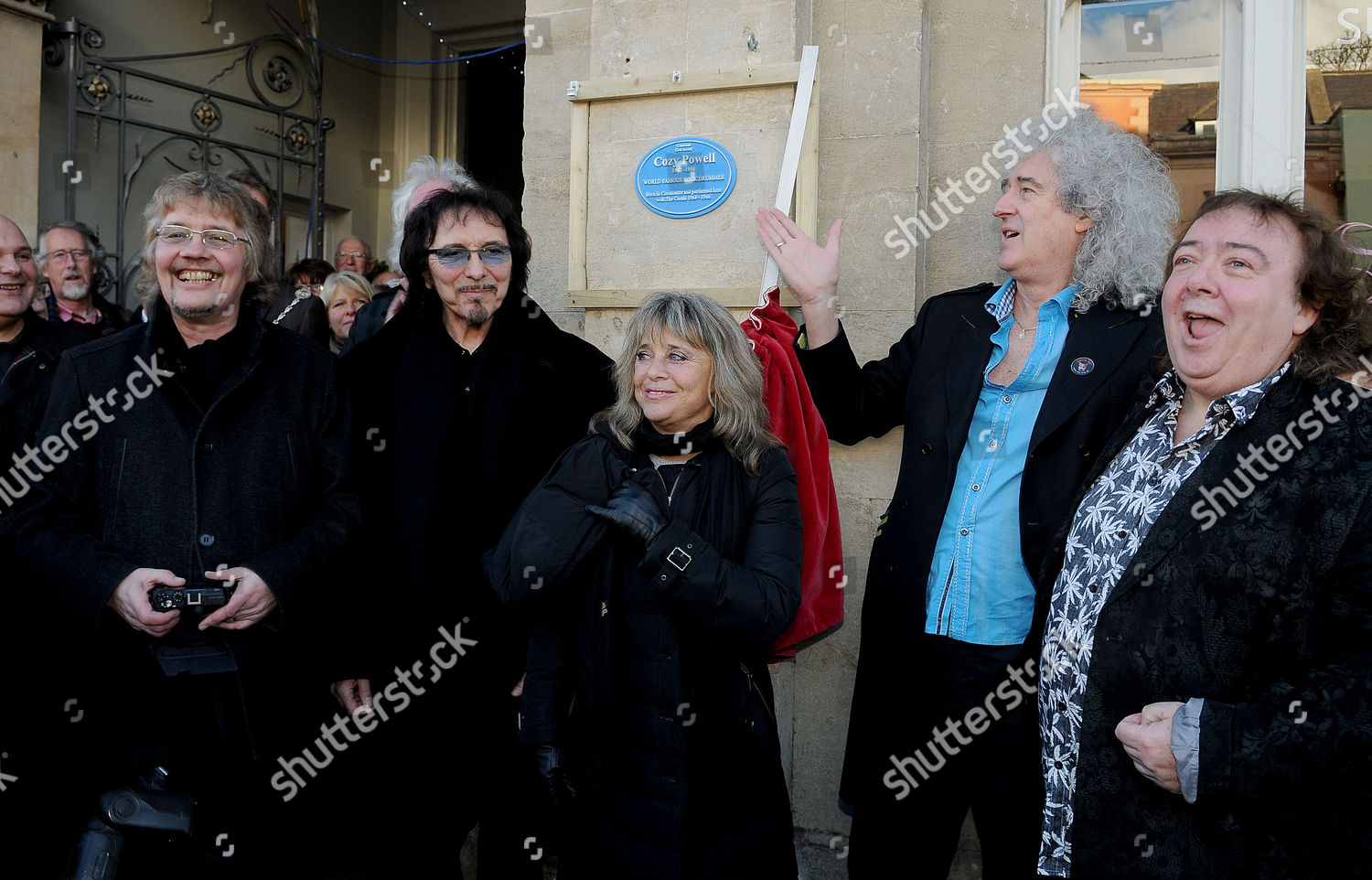 Stock photo of Plaque unveiled for rock drummer Cozy Powell, Cirencester, Britain - 07 Jan 2016
