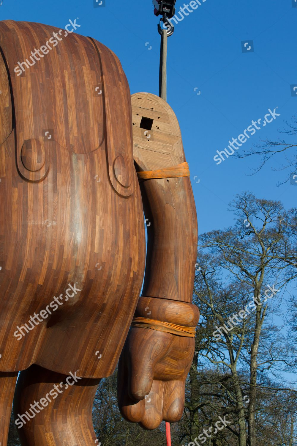 bb5069c4 KAWS exhibition at the Yorkshire Sculpture Park, Bretton, West Yorkshire,  Britain Stock Image by David Empson for editorial use, Jan 15, 2016