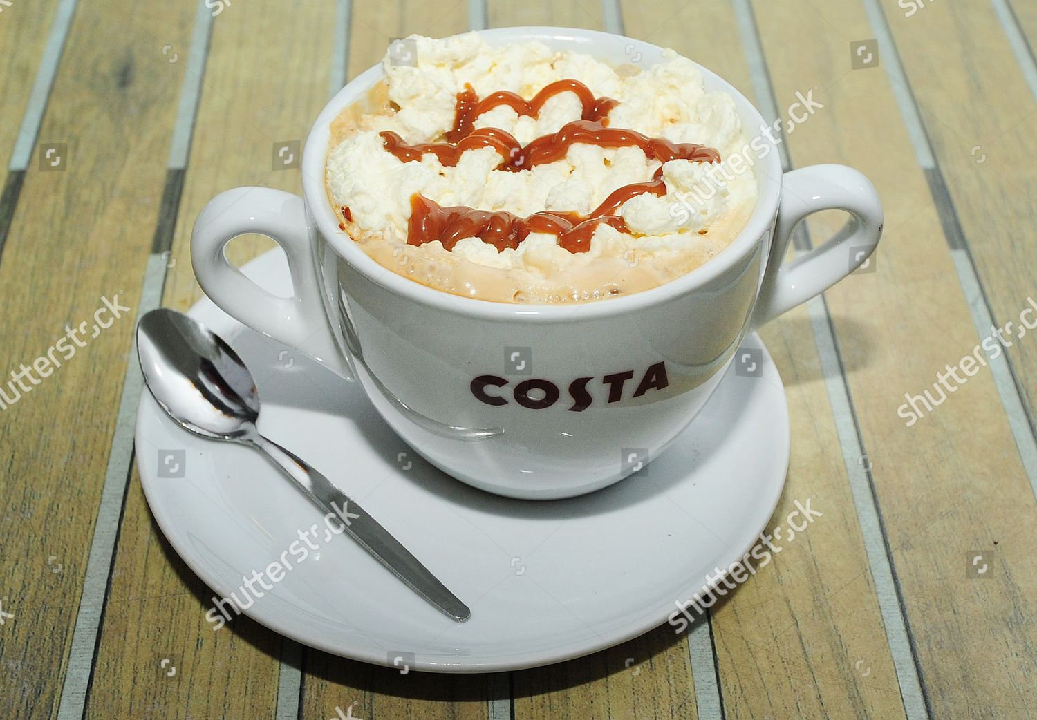 Pictured Large Sticky Toffee Latte Costa Coffee Editorial Stock Photo Stock Image Shutterstock