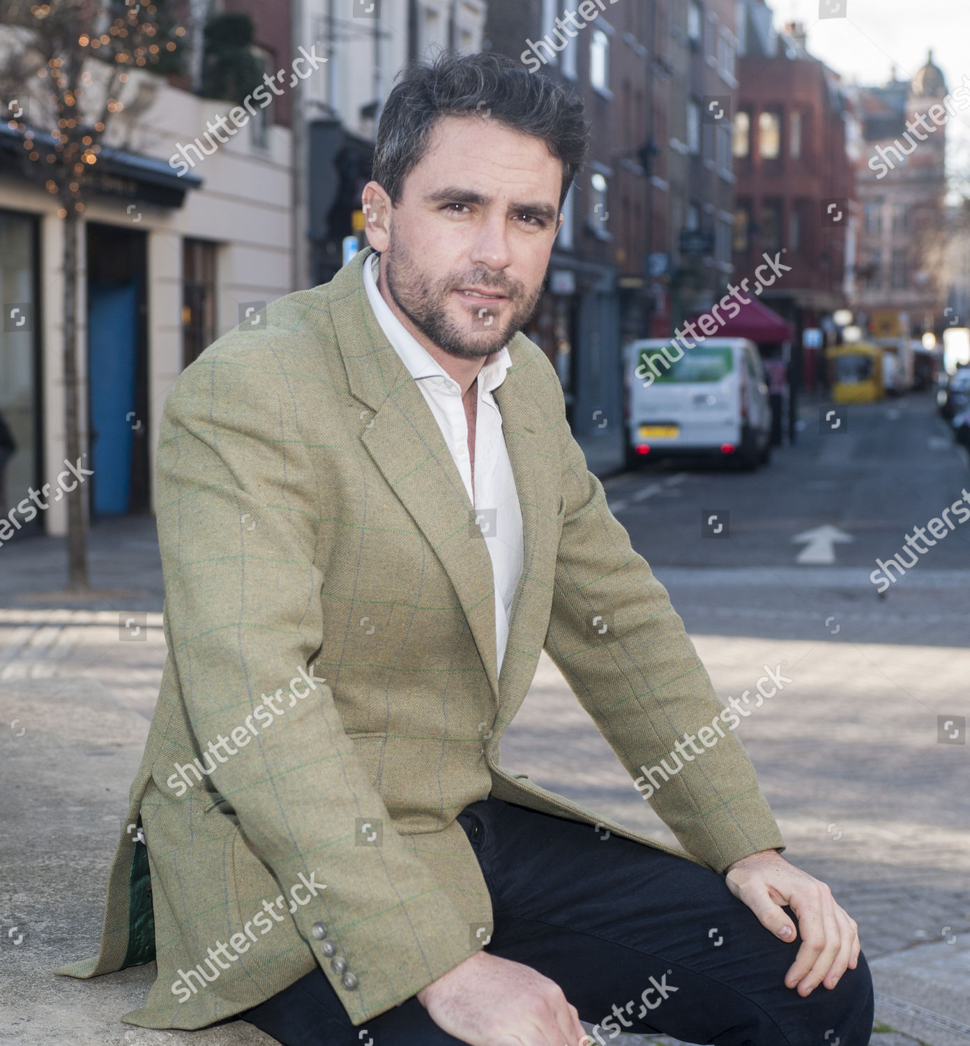editorial stock photo of explorer levison wood who has recently