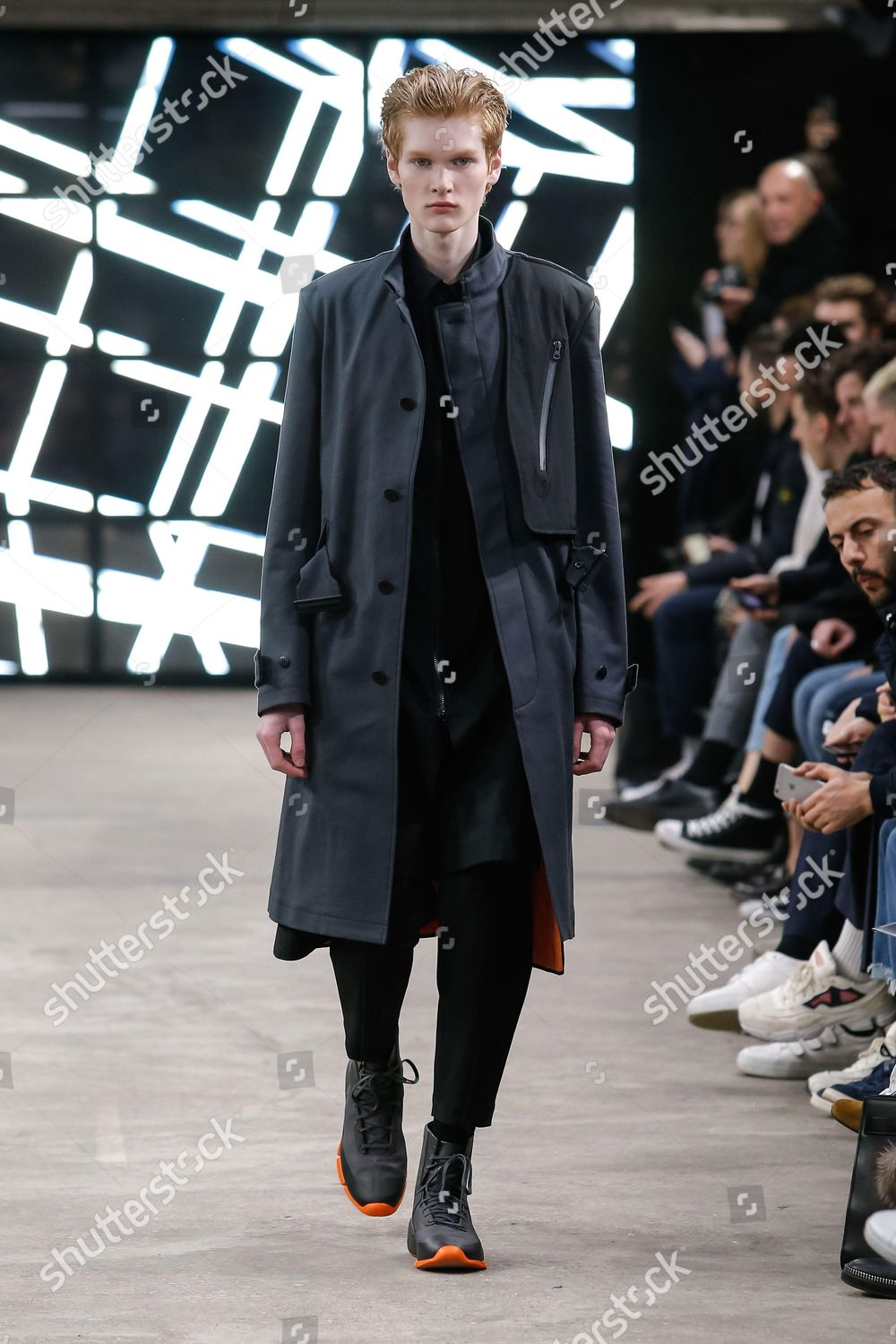 8bf8f1303ff69 Model on catwalk Editorial Stock Photo - Stock Image