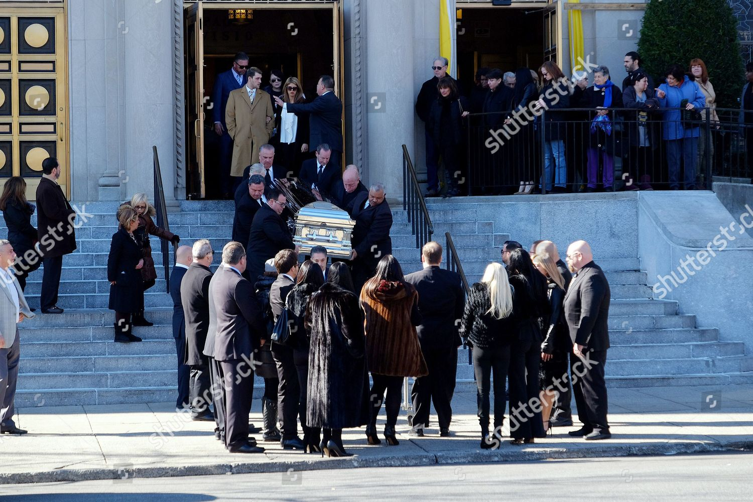 Stock photo of Funeral of Angela Raiola aka Big Ang, New York, America - 22 Feb 2016