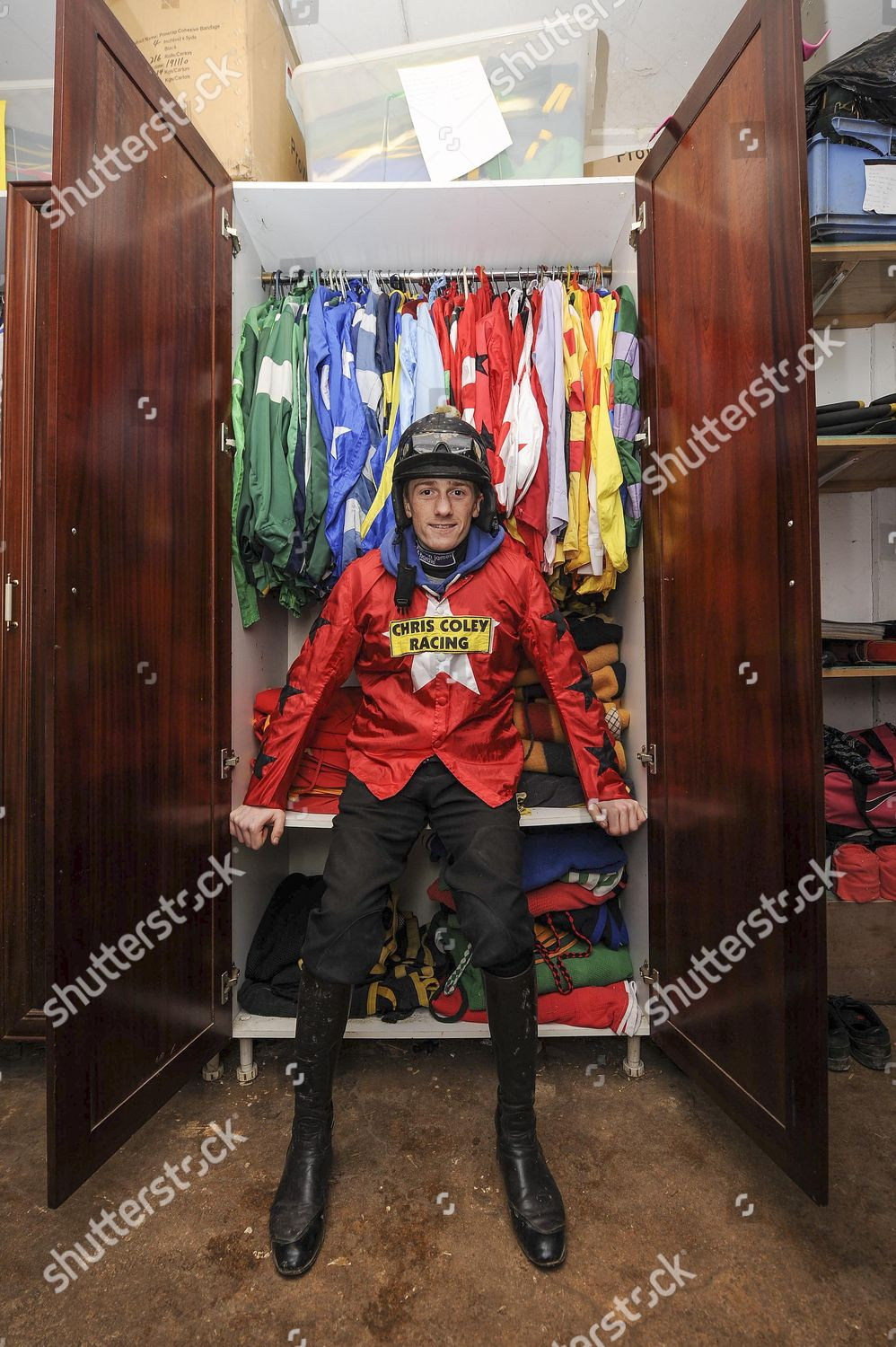 Jockey Sam Twiston Davies Tack Room His Editorial Stock