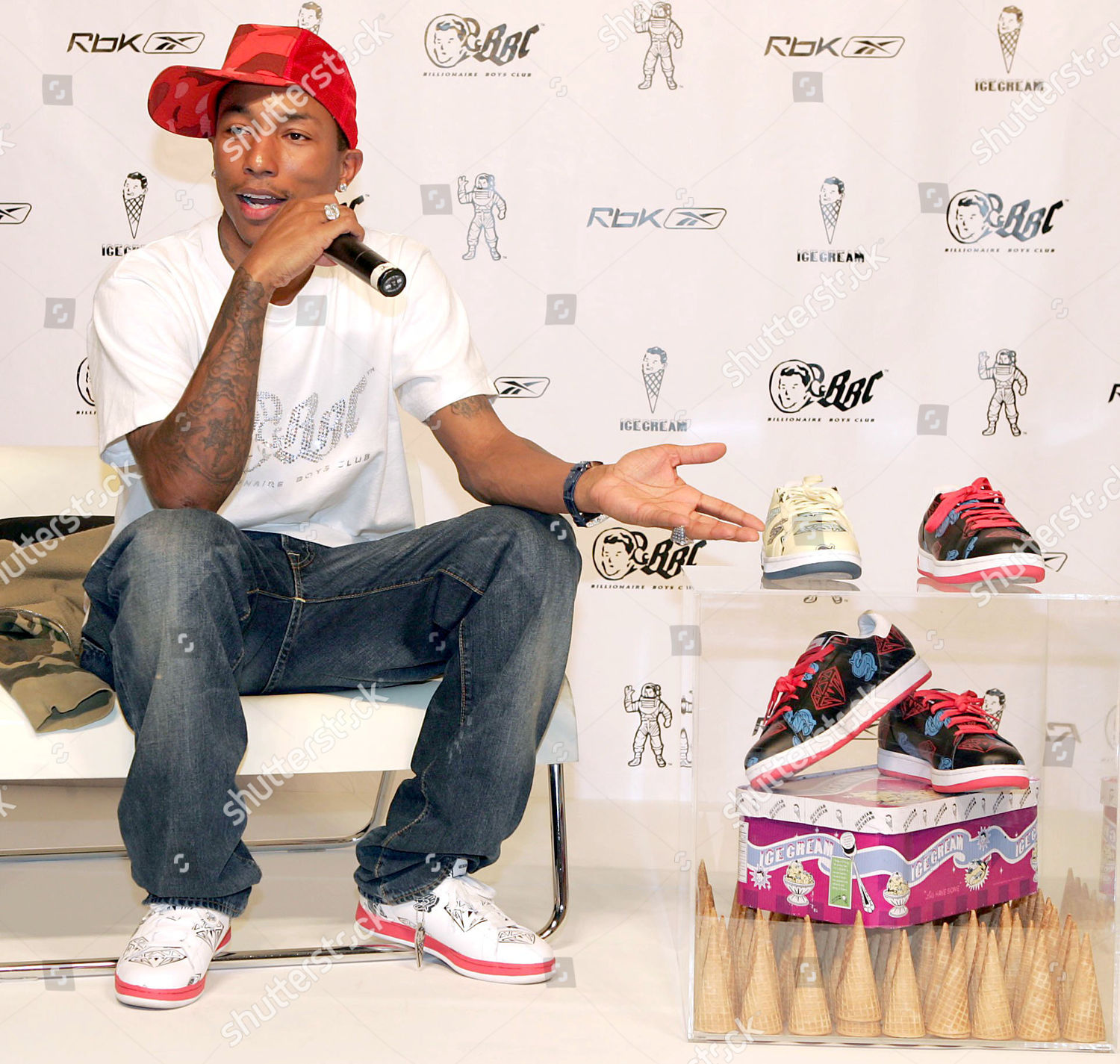 42fd5a2e6 REEBOK LAUNCH OF PHARRELL WILLIAMS ICE CREAM FOOTWEAR AND BILLIONAIRE BOYS  CLUB CLOTHING RANGE, NEW YORK, AMERICA Stock Image by Dave Allocca for  editorial ...