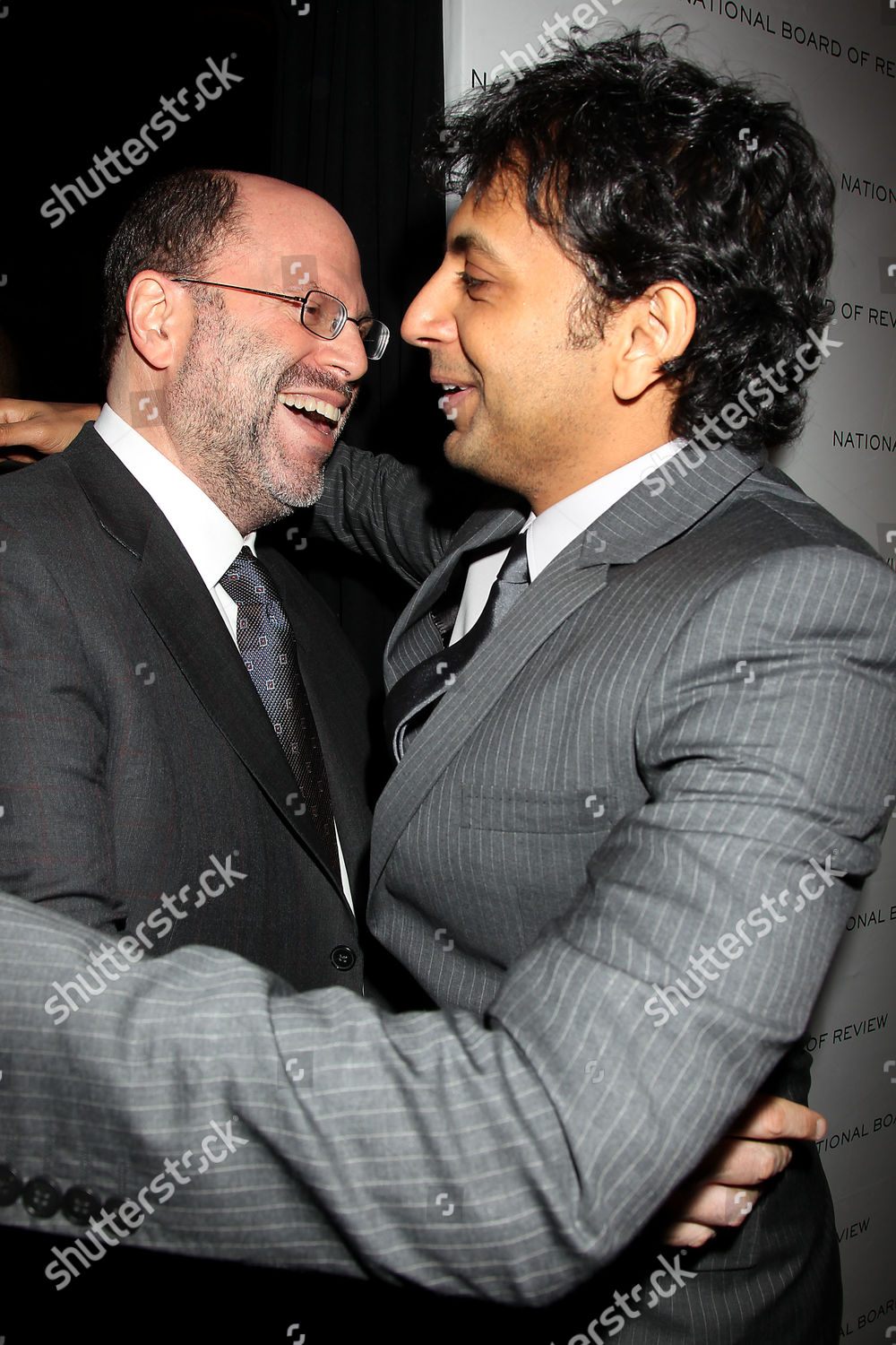 Scott Rudin M Night Shyamalan Foto editorial en stock