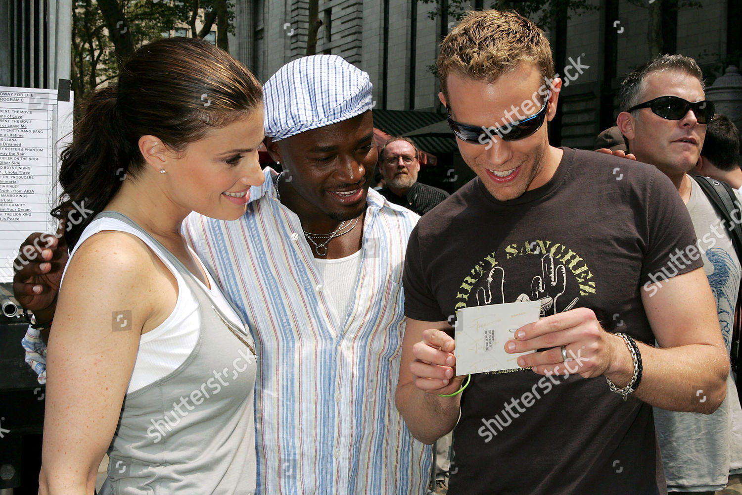 Idina Menzel Taye Diggs Adam Pascal Editorial Stock Photo