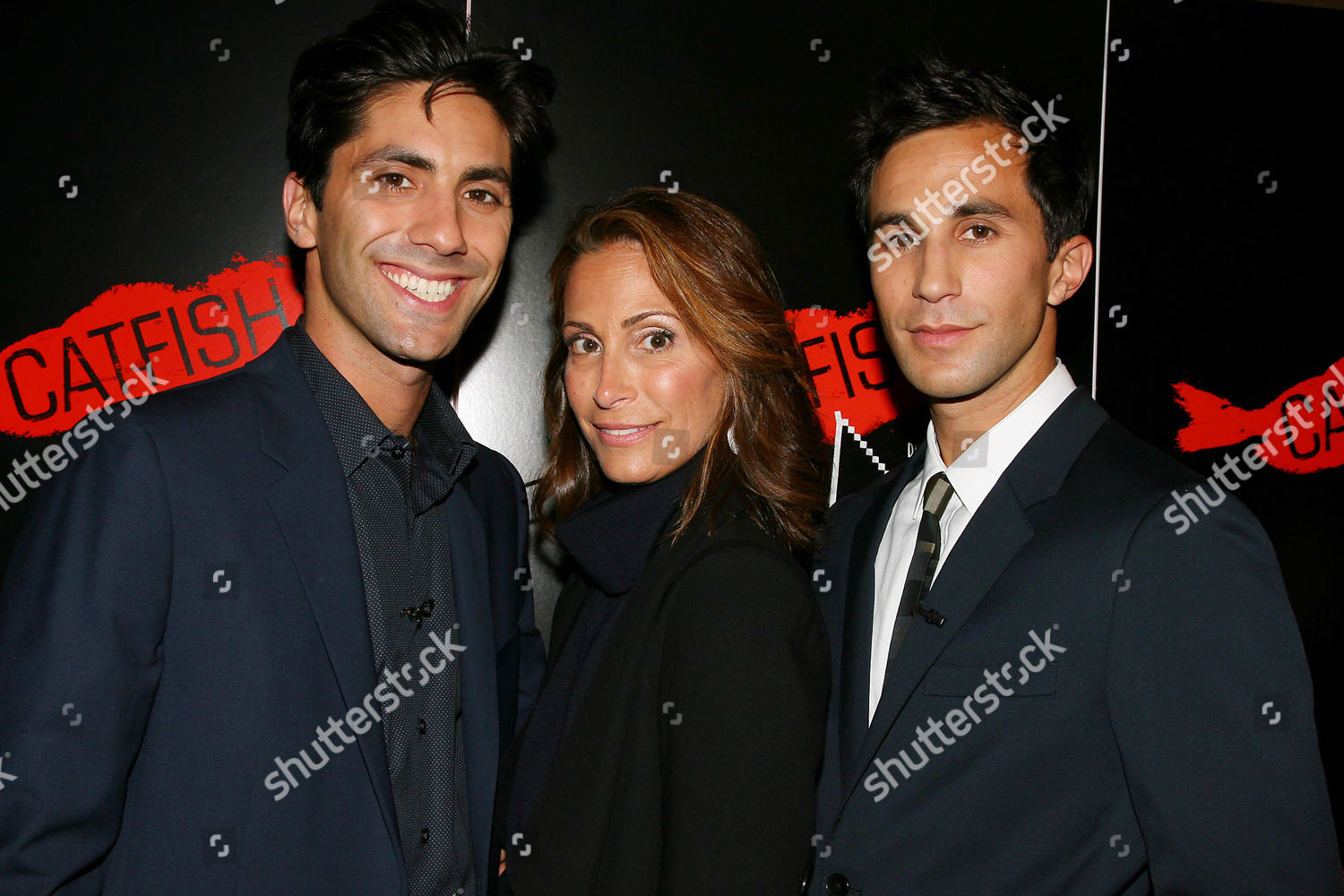 Nev Schulman Ariel Schulman their mother Editorial Stock