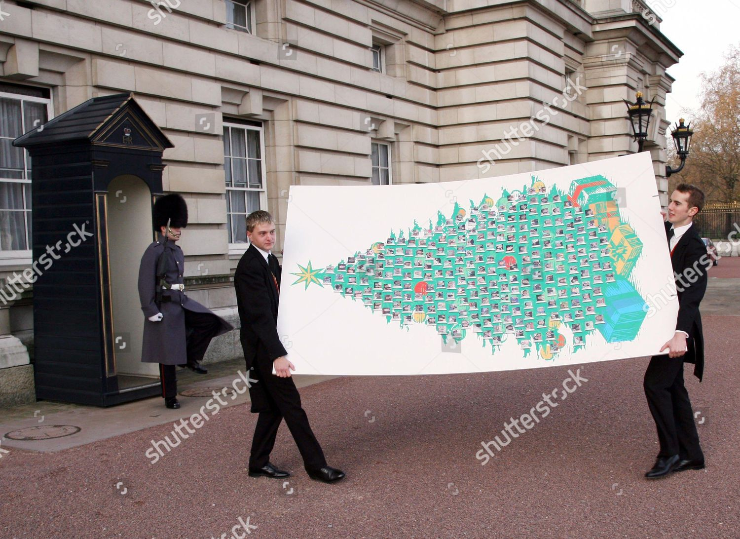 Huge Christmas Card.Huge 9ft X 5ft Card Hand Delivered Editorial Stock Photo Stock