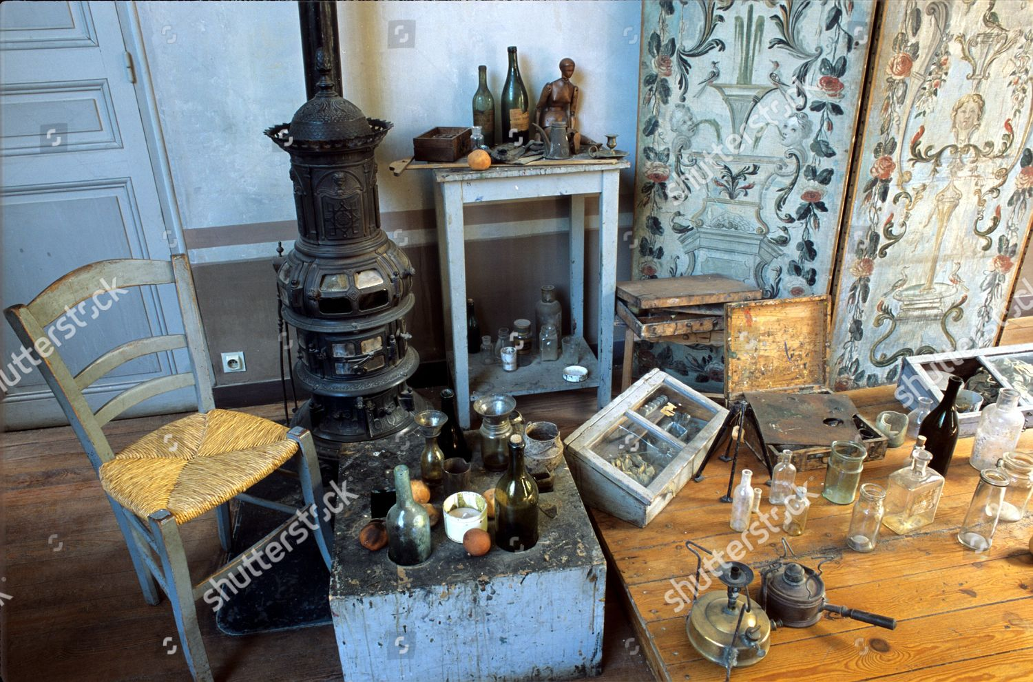 interior Cezannes studio called Lauves remains much Editorial Stock Photo - Stock Image   Shutterstock