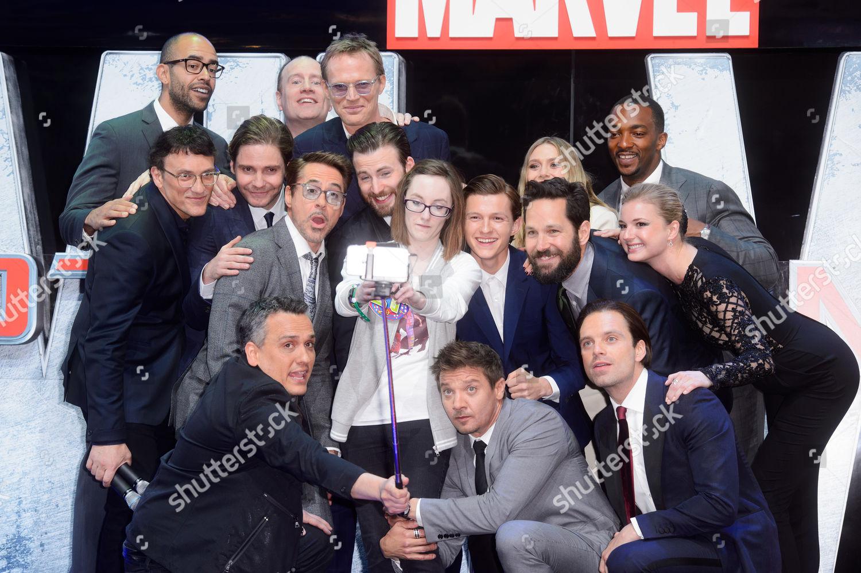 Cast Captain America Civi War take selfie Editorial Stock Photo ...