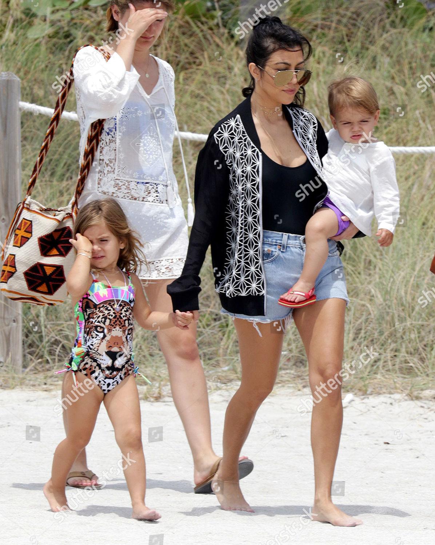 Stock photo of Kourtney Kardashian out and about, Miami Beach, America - 03 May 2016