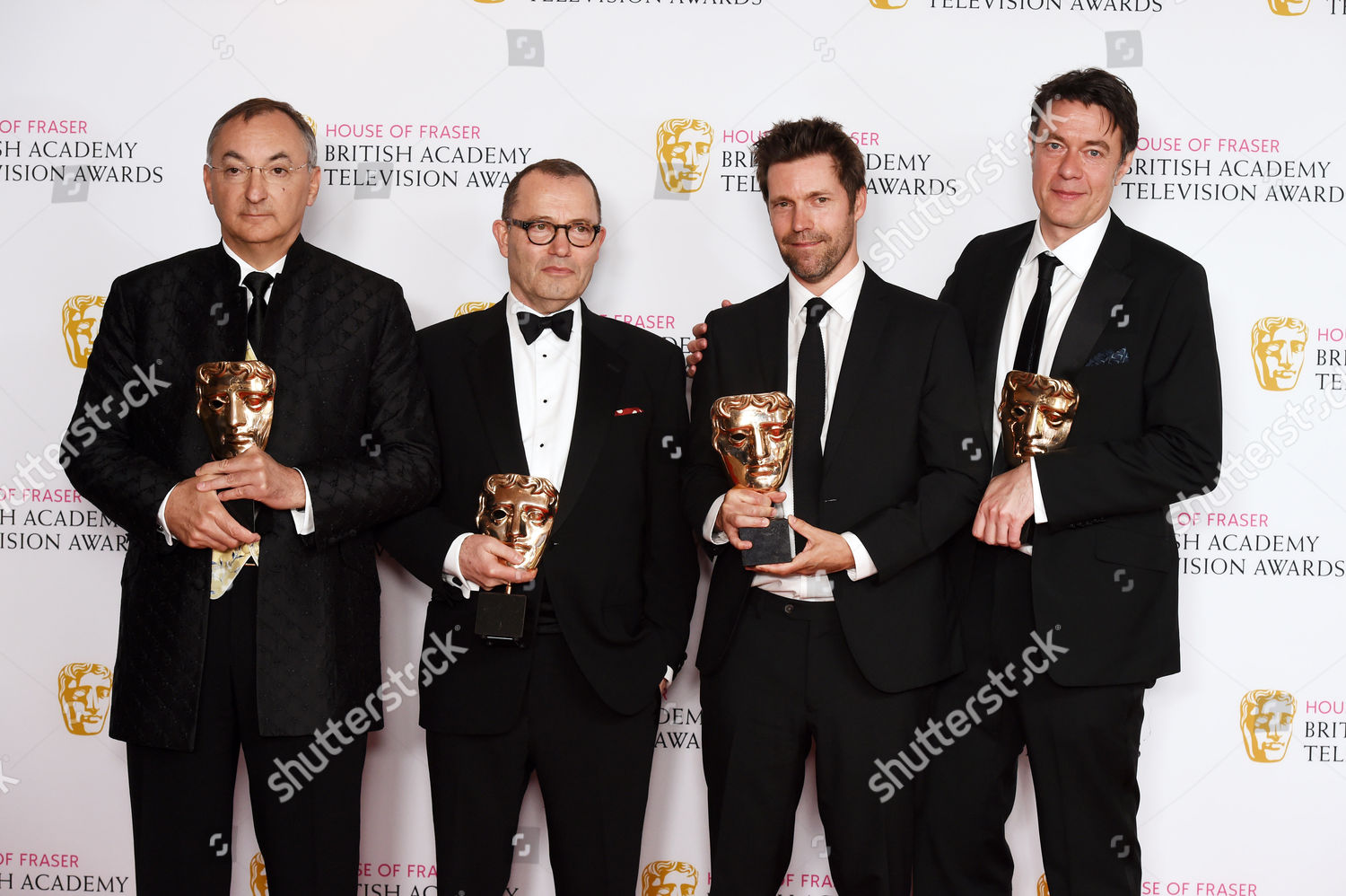 Stock photo of House of Fraser British Academy Television Awards, Press Room, Royal Festival Hall, London, Britain - 08 May 2016