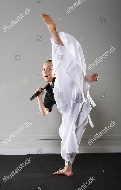 Jesse Jane Mcparland Karate Kid Nine Year Editorial Stock