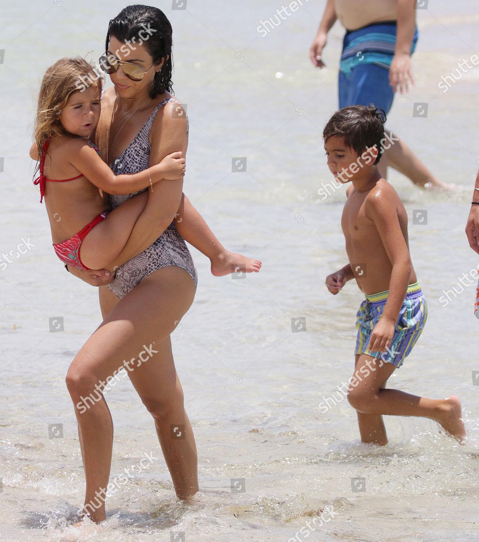 Stock photo of Kourtney Kardashian out and about at Miami Beach, Florida, USA - 03 Jul 2016