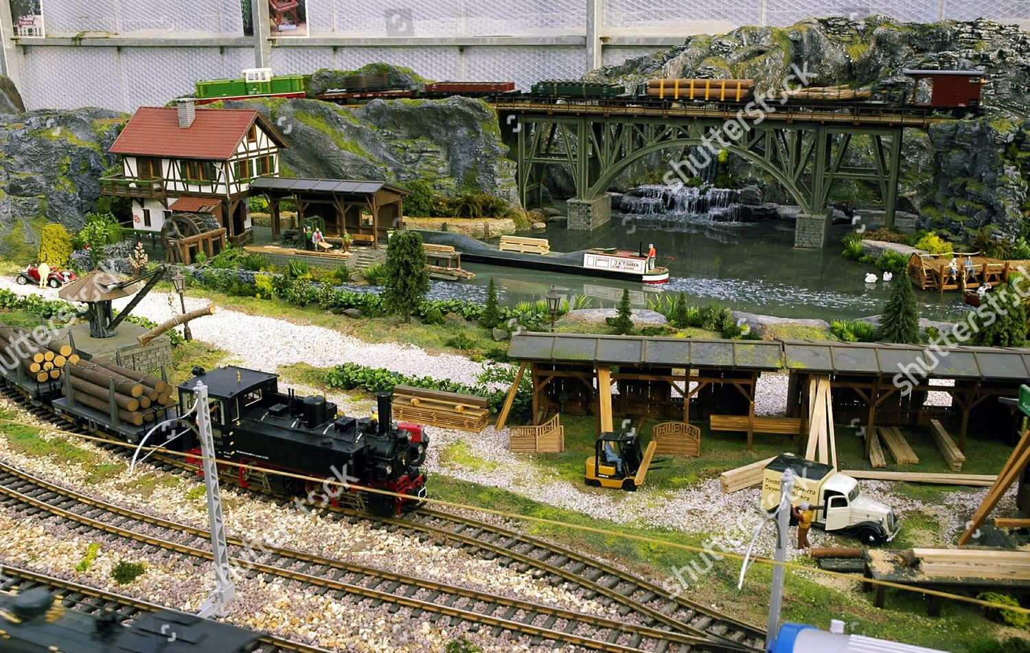 G Scale model railway layout Editorial Stock Photo - Stock